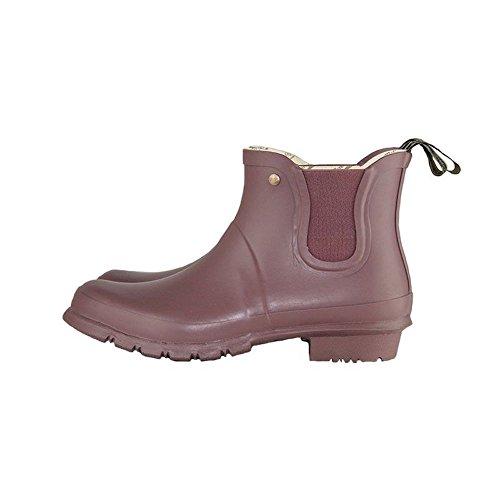 Rockfish Short Women's Chelsea Raisin Wellies Boot Standard Wellies Fit Ankle wCrFCtqU