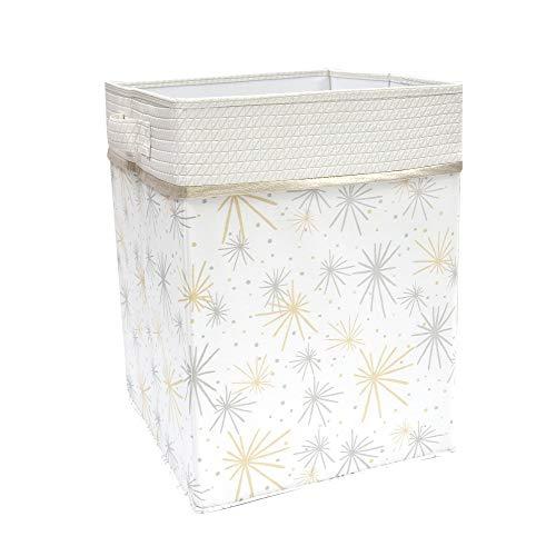 - Lambs & Ivy Signature Moonbeams White/Gold/Silver Celestial Storage/Hamper