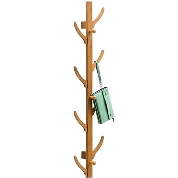 XQAQX Coat Rack Perchero de bambú y Perchero 6/8 ...