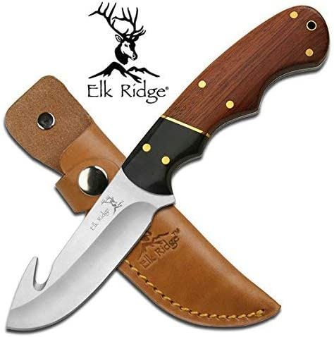 Re Personalized Free Engraving Quality Elk Ridge Knife with Wood Handle