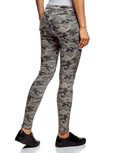 Oodji Donna 2025o Grigio Decorative Ultra Cuciture Jeans Stile Militare Con pwpqZ6r