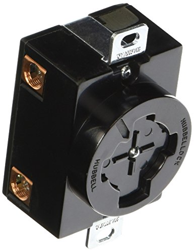 Hubbell HBL20403 Hubbellock Receptacle, 30 amp, 600V, 3 Pole 4 Wire
