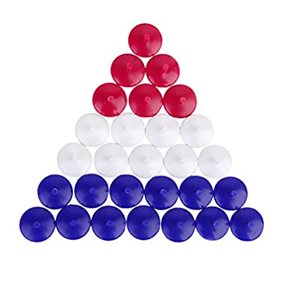 50Pcs Mixed Color Round Shaped Plastic Golf Ball Markers 0.71 inch
