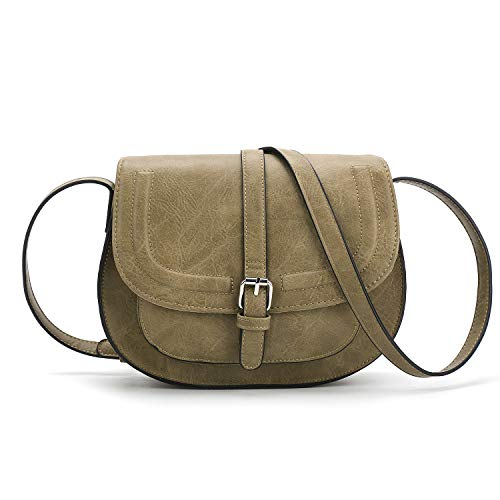 (Women Crossbody Satchel Bag Small Saddle Purse and Tote Shoulder)