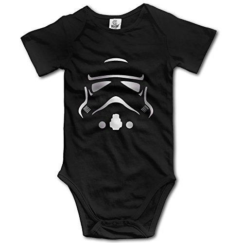 Storm Trooper Platinum Style Baby Sleeveless Romper Jumpsuit Black (Storm Trooper Sexy)