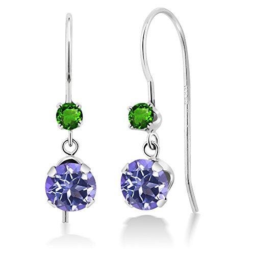 Tsavorite White Earrings - 5