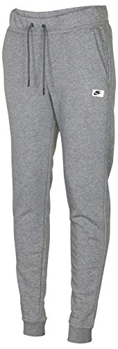 NIKE Women's Modern Sport Casual Sweat Pants-Dark Heather Grey-Large