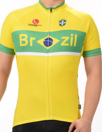 Men's Breathable Short Sleeve Cycling Jersey FIFA World Cup Brazil Style
