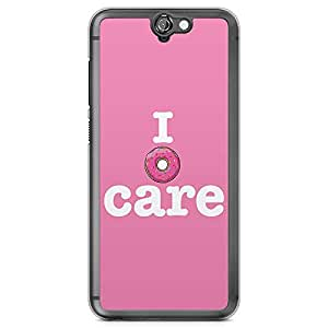 HTC One A9 Transparent Edge Phone Case Donut Phone Case Pink Donut A9 Cover with Transparent Frame