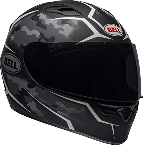 - Bell Qualifier Full-Face Motorcycle Helmet (Stealth Camo Matte Black/White, Large)