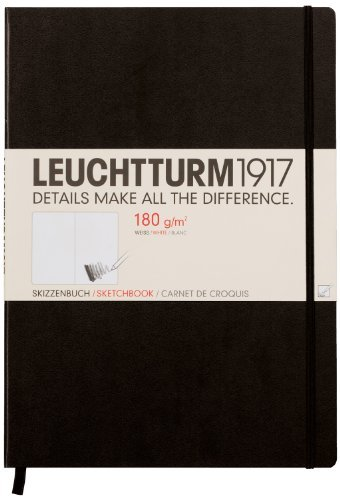 Leuchtturm1917 Hardcover Master Sketchbook, Large / A4+, Black by LEUCHTTURM1917