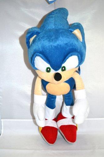 "Large Sonic the Hedgehog Plush Backpack 20"""