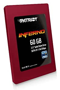 Patriot Inferno 60 GB SATA II 2.5-Inch Solid State Drive (SSD) with TRIM Support PI60GS25SSDR