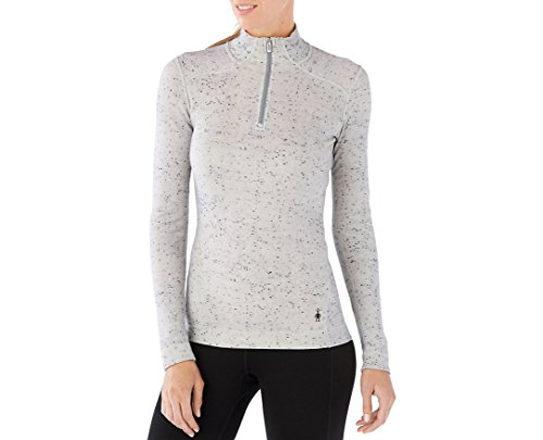 Smartwool Women's NTS Mid 250 Pattern Zip T (Winter White Dongal) Small by SmartWool