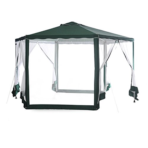 Abba-Patio-13D-x-11W-Outdoor-Hexagonal-Gazebo-with-Mosquito-Net-Sun-Shade-Shelter