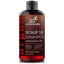 ArtNaturals Therapeutic Argan Anti-Dandruff Shampoo - (16 Fl Oz / 473ml) - Natural and Organic Coal Tar with Argan Oil - Treatment Helps Anti-Itchy Scalp, Symptoms of Psoriasis, Eczema - SulfateFree