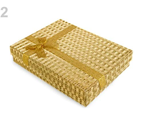 1pc 2gold Exclusive Box with Ribbon 12x16 cm, Boxes, Gift Bags, Decorations