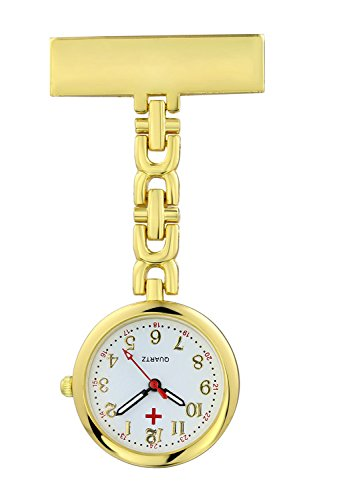 (Pack of 3) Women's Fob Watch with Quartz Movement Clip Pin Brooch Hanging Pocket Watch by autulet (Image #5)
