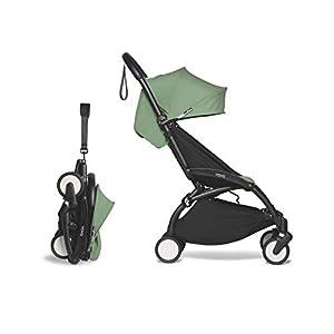 BABYZEN-YOYO2-6-Stroller-Black-Frame-with-Peppermint-Seat-Cushion-Canopy