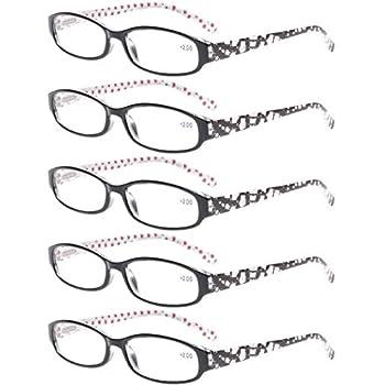 18e1477b4f0 Reading Glasses Comb Pack of Multiple Classic Men and Women Readers Spring  Hinge Glasses (5