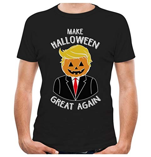 Tstars - Make Halloween Great Again Pumpkin Donald Trump T-Shirt X-Large Black for $<!--$13.95-->