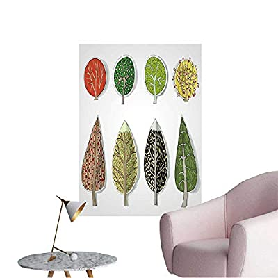 Wall Decals Trees Sticker Set Environmental Protection Vinyl