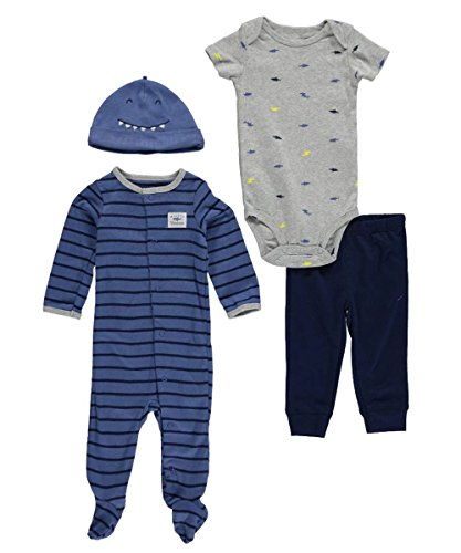 Carter's Baby Boys' 4-Piece Take Me Home Set (Newborn, Blue Shark)