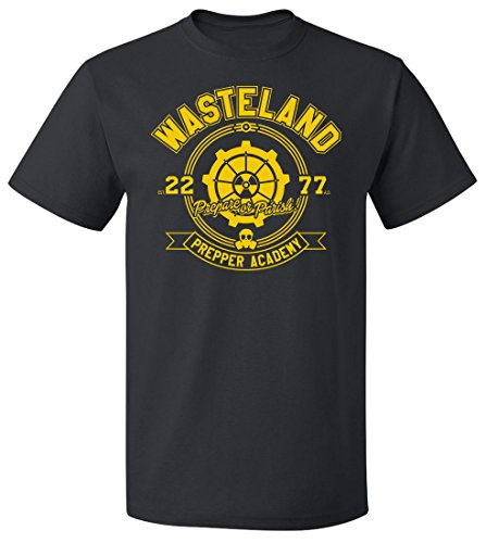 Wasteland Prepper Academy T-shirt | fall in not out in this Tee (5X Large, - This Fall Mens Fashion