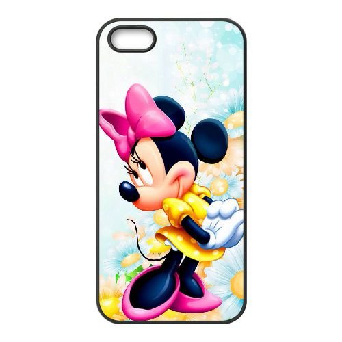 Disney Minnie Mouse QH74EM5 coque iPhone 5 5s cas de téléphone portable coque S9QA1T3CN