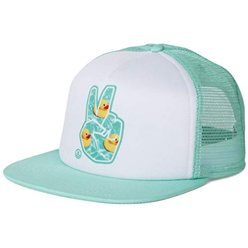 NEFF Peace Trucker Snapback Hat Turquoise White Rubber Ducky ()