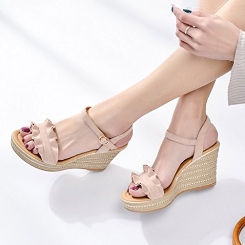 Waterproof Pink Fashion Sandals Most High Shoes Heels Women's 9cm Sexy Platform Wedge Popular Elegant wZSXxRqA
