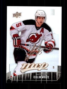 75b0577a3db Amazon.com: 2009 Upper Deck MVP # 128 Colin White New Jersey Devils ...