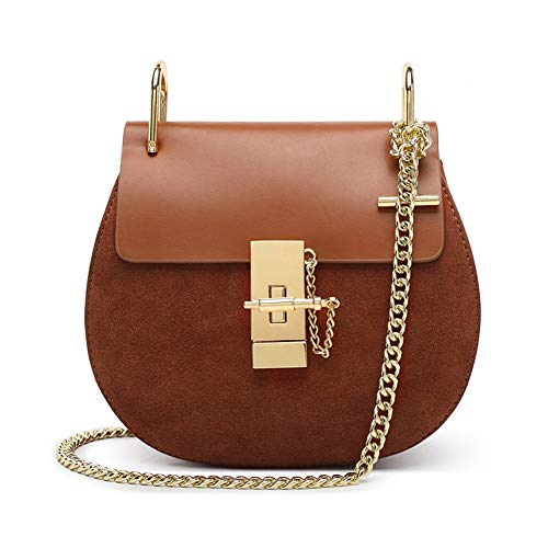 Normia Rita Punk Style U-Ring Flap Bag Chain Bag Crossbody Envelope Bag Clutch Mini Bags For Girls - Caramel