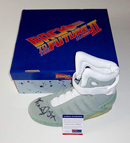 Michael J. Fox Autographed Signed Back To The Future Air Mag Sneaker Exact Proof Memorabilia PSA/DNA Z70278