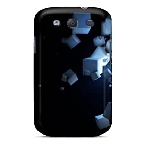 Galaxy Cases - Tpu Cases Protective For Galaxy S3- Floating Cubes 3d