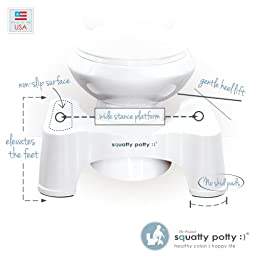 Squatty Potty The Original Bathroom Toilet Stool 7\