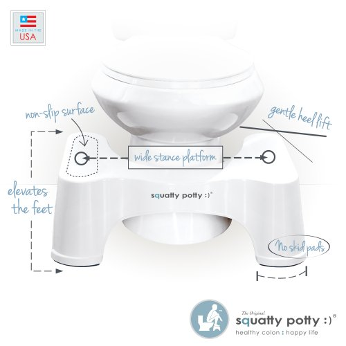 Squatty Potty The Original Bathroom Toilet Stool White 9