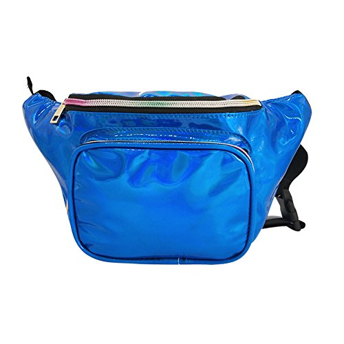Fashion Messenger Robemon Women Casual Waterproof Bum Bag Bag Pack Waist Outdoor Blue Shoulder Laser Chest fqAzwC