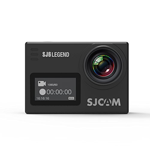 SJCAM SJ6 LEGEND 4K Wifi Action Camera Sports Video Camera Gyro Stabilization 2.0 Inch Touch Screen 4K 24FPS Novatek NT96660 Panasonic MN34120PA 16MP Underwater Waterproof Digital Camera Black by OLYCAM
