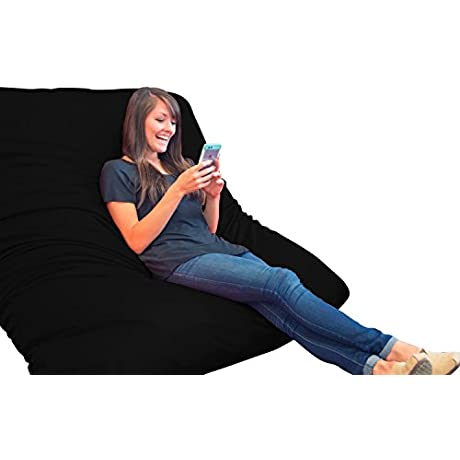 Xorbee 6 Foot Foam Filled Pillow In Twill Midnight Black