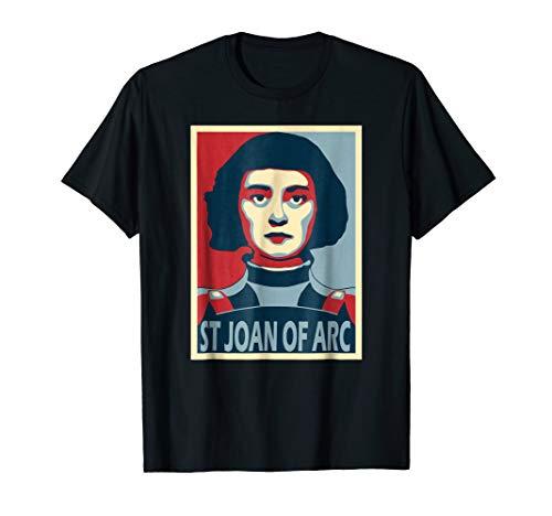 (St Joan of Arc Poster Style Pop Art T-Shirt)
