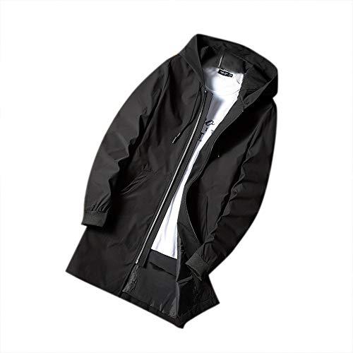 Viento Hombre Yanhoo Prueba A Ropa Abrigo De Ocio Invierno Para Hermoso Hombres Abrigos Chaqueta Y Cuerpo Los Cálido Negro Largo 4RRT1