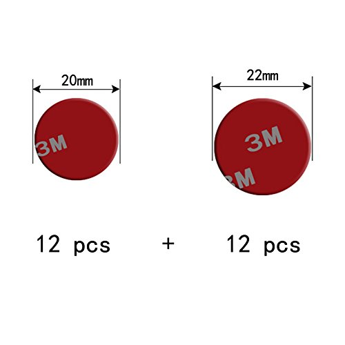 Circular Adhesives 0.8mm Thick (12pcs 20mm Diameter) + (12pcs 22mm Diameter) - Free Arkon Vent Mount