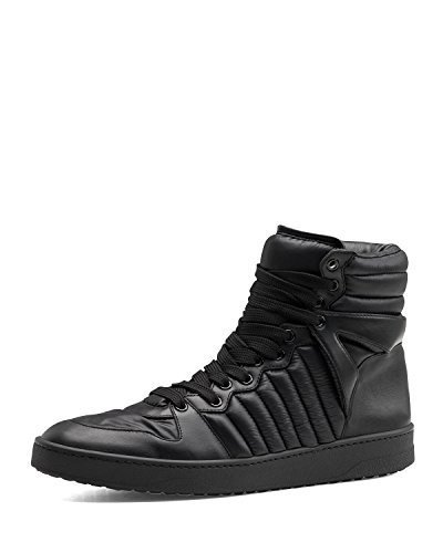 Gucci 'Hudson' Padded Nylon & Leather High-Top Sneaker, Black US 11 (Gucci/UK 10.5) - Gucci Sneakers For Men High Top