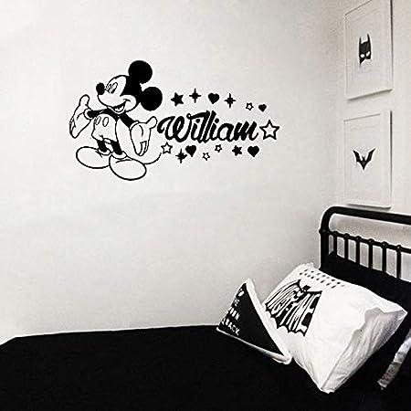 Tianpengyuanshuai Tatuajes de Pared Mouse Nombre Personalizado ...