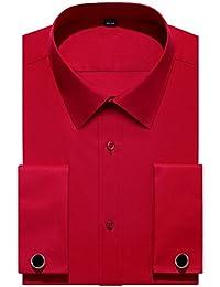 French Cuff Regular Fit Dress Shirts (Cufflink Included)