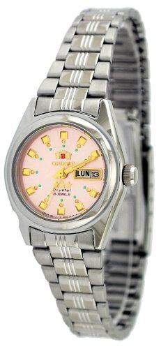 Orient #BNQ1X003M Women's Tri Star Pink Dial Automatic Watch