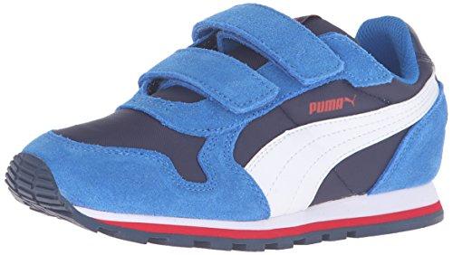 PUMA St Runner Nl V Ps Sneaker (Little Kid/Big Kid), Peacoat/Puma White, 11 M US Little Kid
