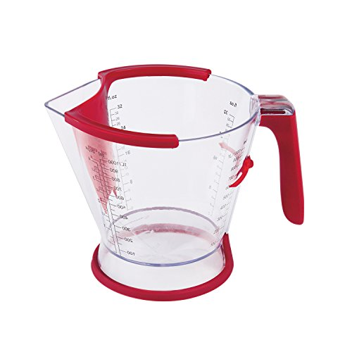 Zyliss 4 Cup with Fat Separator, No Drip Spout, Sliding Scale with Measurements and Non-Slip Handle, Acrylic
