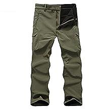 Men's Waterproof Military Softshell Tactical Pants Camping Hiking Fleece Pants